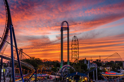 Cedar Point Sky Ride Sunset (without cable)