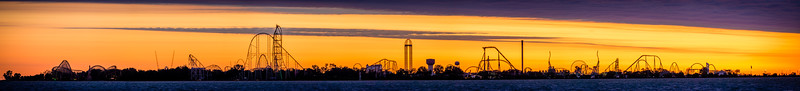 Cedar Point Panoramic Skyline 2016
