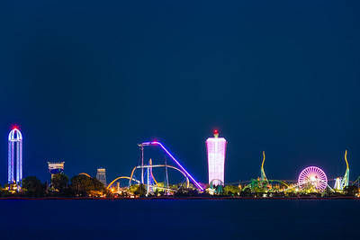 Cedar Point Nighttime Long Exposure