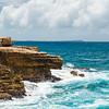 The rough seas and landscape near Devil's Bridge, Antigua