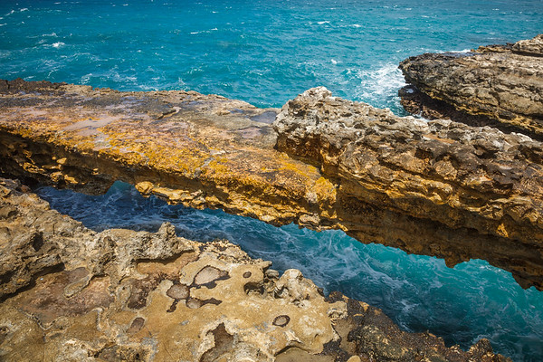 The Devil's Bridge, Antigua.  Rumored to be the spot of mass suicides of escaped slaves