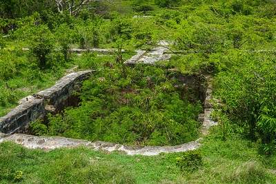 One of the cisterns at Betty's Hope, which held water for the rum-making, slaves, and horses