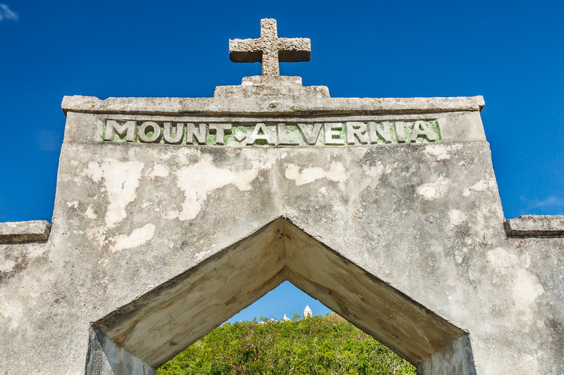 The entry arch to the Hermitage on Mount Alvernia