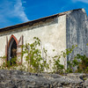 A very old church on the hill in Bennett's Settlement, abandoned after a declining population and hurricane devastated it in the late 1980s.