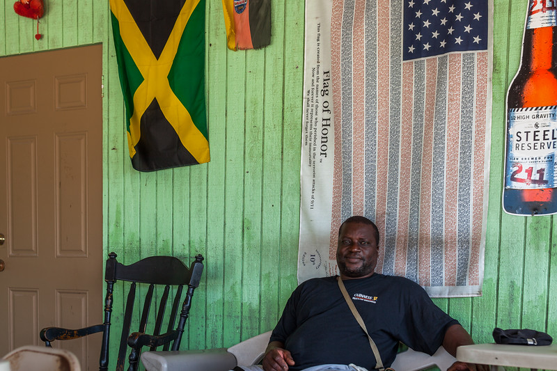Derek, the owner of Yardie's in Bennett's Settlement