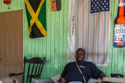 Derek, the owner of Yardie's in Bennett's Settlement