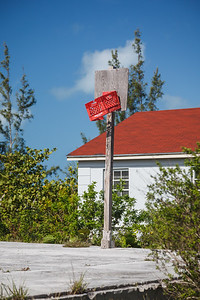 Bennett Settlement school's basketball court