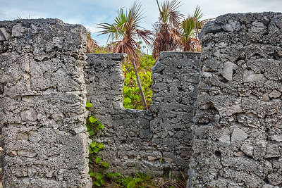 These ruins on Conception Island are believed to be fishing houses from the 1920's.