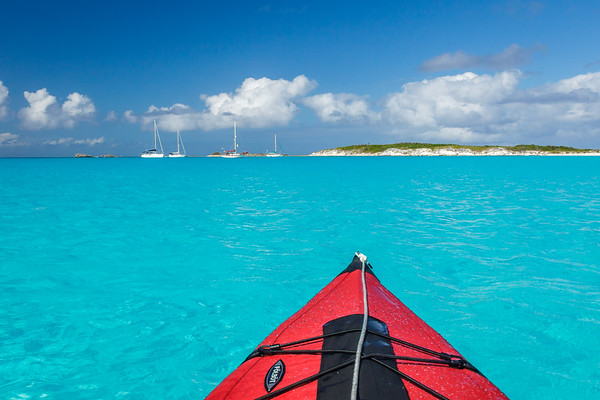 Kayaking Conception Island, Bahamas