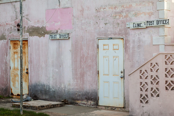 A common sight in the Bahamas - a single small old building housing all government services