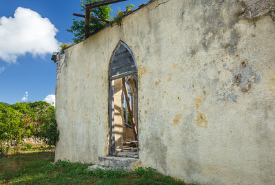 The simple facade of St. Mary's, The Bight, Long Island