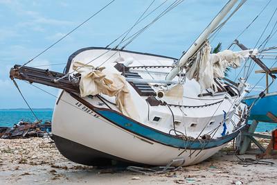 Damage from Hurricane Sandy at Marsh Harbor