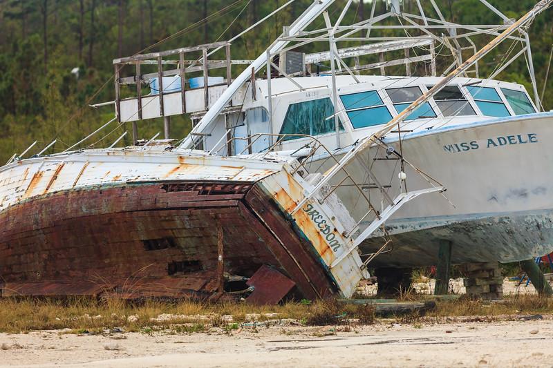 Wreckage at Marsh Harbor