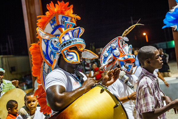 The colorful costumes of Marsh Harbor's small Junkanoo Parade, a Bahamian tradition three hundred years old