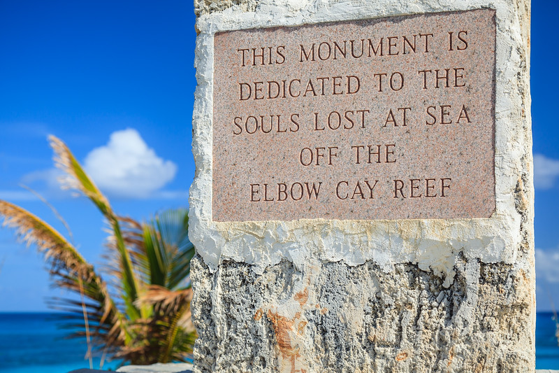 Dedicated to the sailors who lost their lives on Elbow Cay Reef