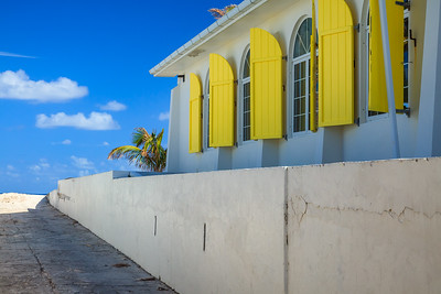 Hope Town's church, right on the beach