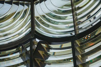 Elbow Cay Reef light's first-order Fresnel lens, enabling a small kerosene wick to be seen over 20 miles