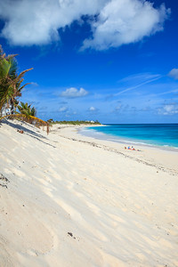 The eroded beach on the Atlantic side of Elbow Cay