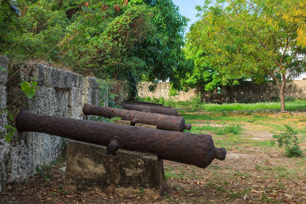 "The 16th-century ""shooting platform"" at Fortaleza Ozama in Santo Domingo"