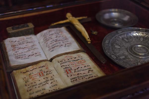 Medieval music from the Music Room of Alcazar de Colon.  Santo Domingo.