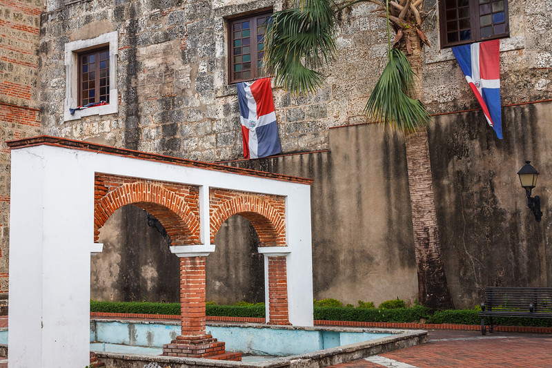 Outside the Panteon Nacional in Santo Domingo