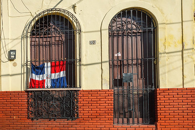 Almost every building in the Dominican Republic proudly displays their flag