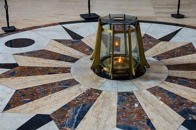 The flame inside the Panteon Nacional burns 24 hours a day
