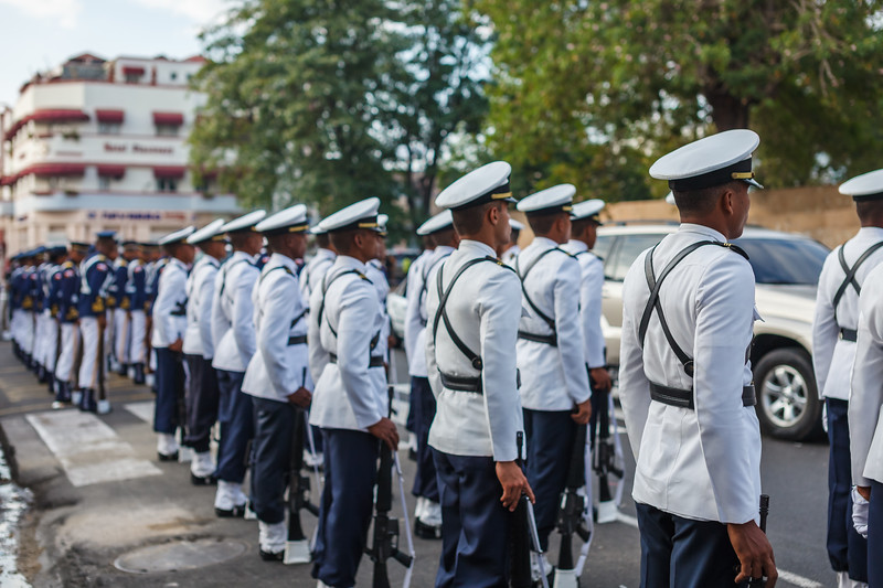 All branches of military of the Dominican Republic were represented at Parque de Independencia for the President, during the Dominican Independence Day