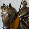 Colombus brought just over a dozen horses to the New World.  They wore armor like this, found in the Alcazar de Colon.  Santo Domingo.
