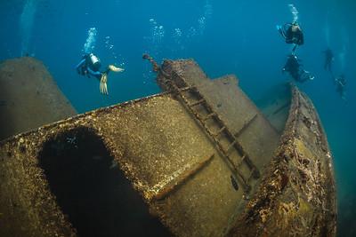 The Catuan, sunk as an artificial reef near Boca Chica, Dominican Republic