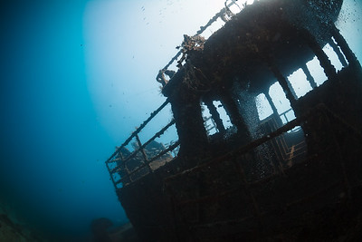 The Catuan, sunk as an artificial reef near Boca Chica, Dominican Republic