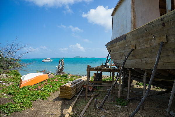 "The ""boatyard"" in Windward."
