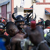 The jab jabs during j'ouvert.
