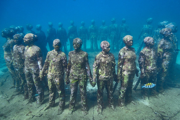 Grenada's Underwater Sculpture Point near Moliniere Point