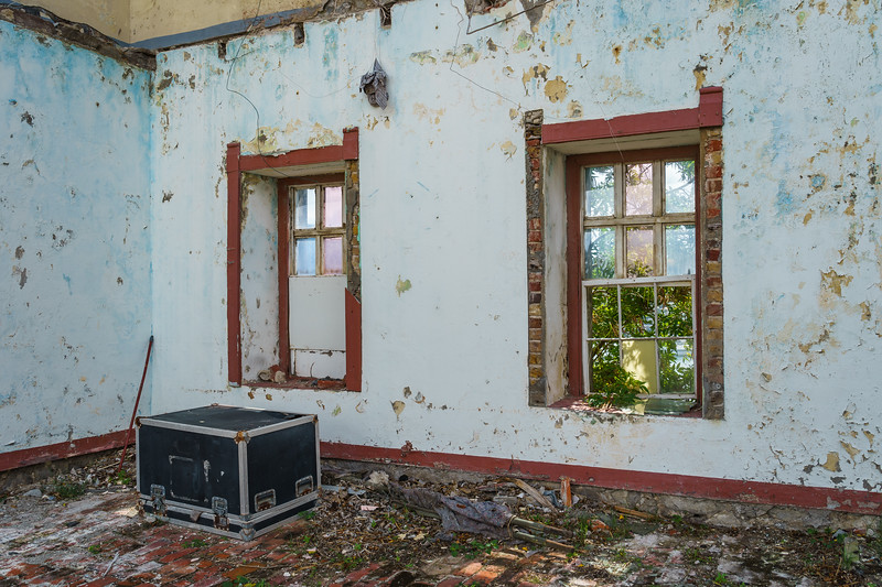 An abandoned room at Fort George, part of Grenada's police academy.