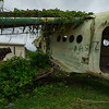 A derelict Antonov AN-2 biplane at Pearls Airport.  This was a Cuban transport plane and it hasn't really moved since the 1983 American invasion.
