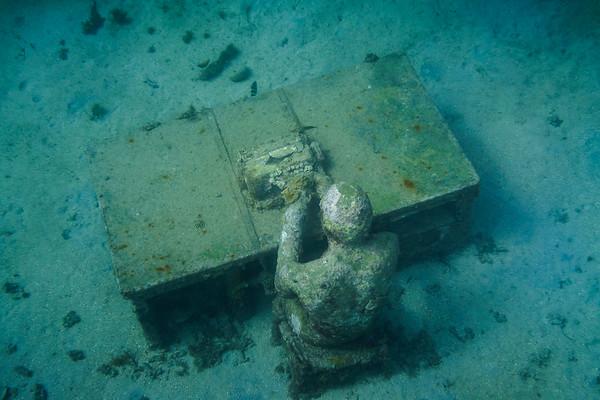 Grenada's Underwater Sculpture Point near Moliniere Point
