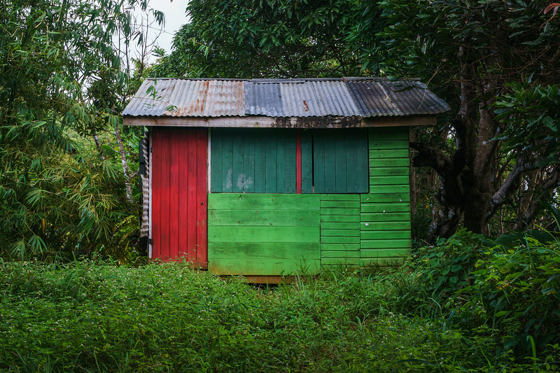 """One of Grenada's """"Janet Houses"""", prefabbed huts shipped in from Venezuela after Hurricane Janet destroyed the island in 1955."""