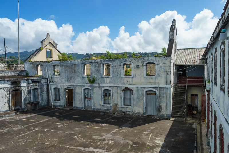 The courtyard at Fort George where Grenada Prime Minister Maurice Bishop was executed by firing squad during a coup in October 1983, along with members of his cabinet.