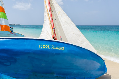 One of the workboats at the Grenada Sailing Festival.