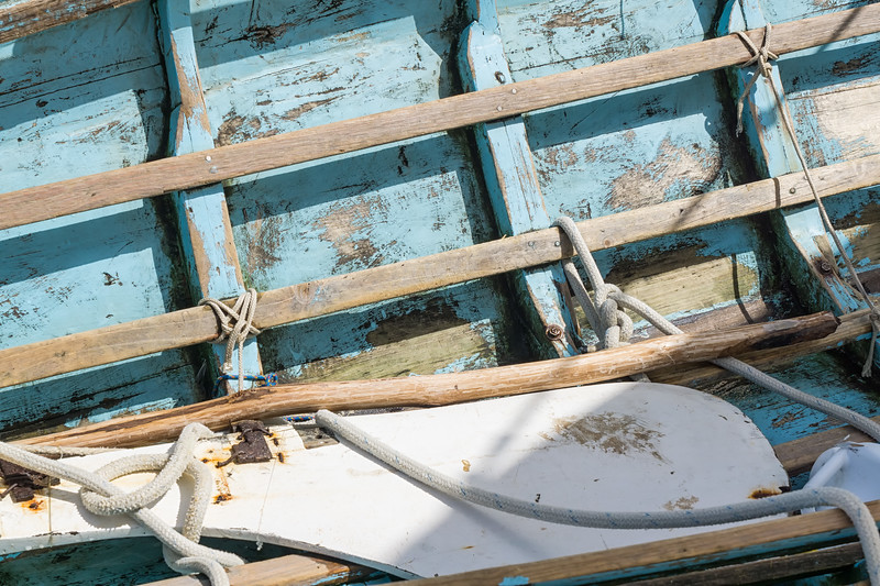 Detail of the inside hull of one of the traditional workboats.