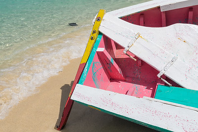 The boats at the Grenada Sailing Festival are very colorful, inside and out.