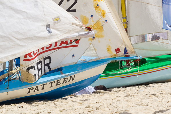Catching a nap between heats at the Grenada Sailing Festival.