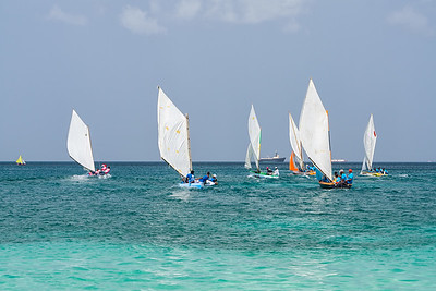 Start of one of the races at the Grenada Sailing Festival.