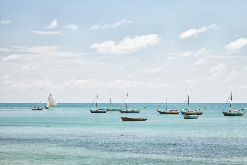 Fishing boats in La Hatte.