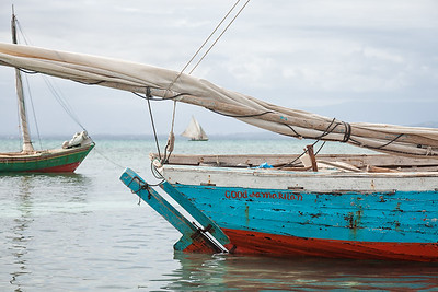 """Fufei"" anchored at Pierre La Lanterne.  This boat belongs to the Good Samaritan Foundation of Haiti. ""Good Samaritan"" is painted on the stern."
