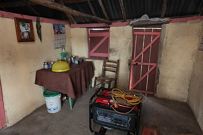 Old meets new: a donated generator sitting inside of Charite's house in La Hatte.