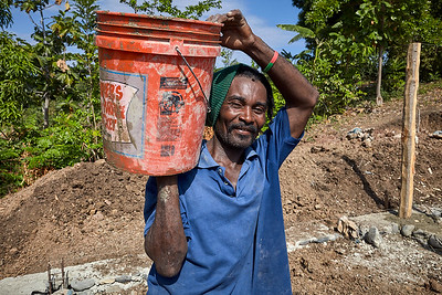 One of the local construction crew responsible for hauling cement at the hen house site.  He was the first person here to ask me to take a picture of him - almost all of the islanders are really shy around cameras (mostly because no one has ever seen a camera).