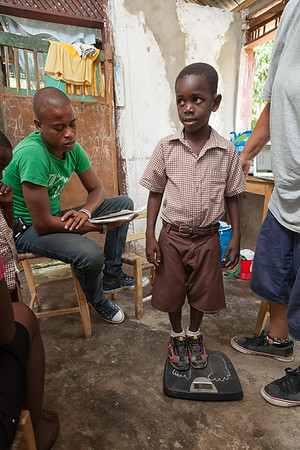 Many of the boys on the island are shorter and skinnier than they should be for their age.