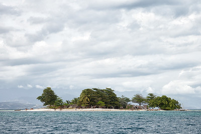 Pierre La Lanterne, a small cay near Ile A Vache.  About 200 fishermen from mainland Haiti live here for almost the entire year.